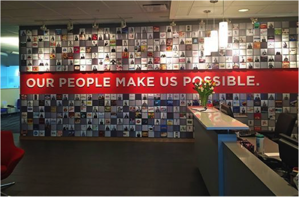 Inside POSSIBLE's headquarters.