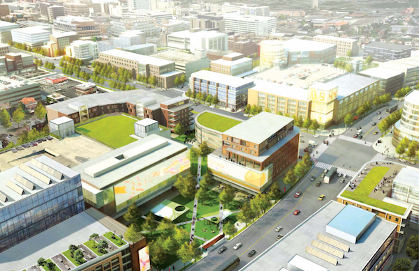 A rendering of Uptown's proposed innovation district.