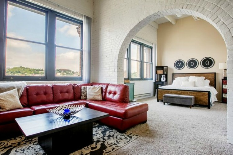 East Eight Lofts combine historic charm with modern elements.