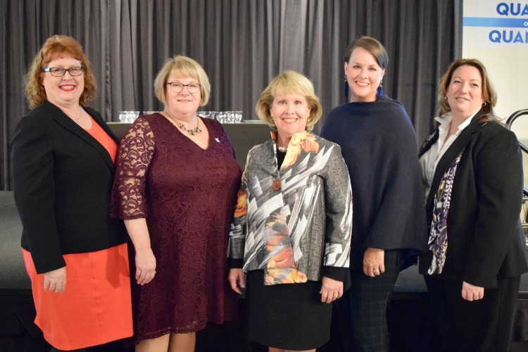 Founders Jean H. Mize, Beth Broomall, V. Ruth Klette, Nancy Grayson, and Barbara Schaefer