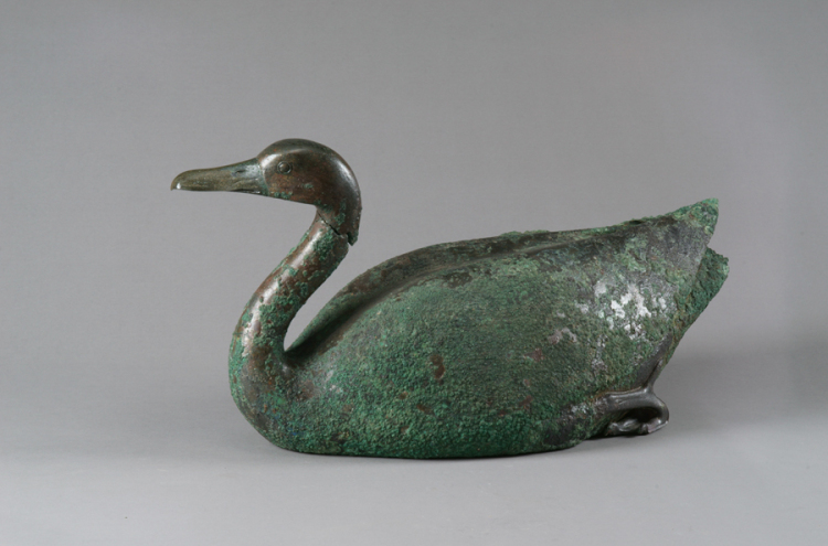 Goose, Qin dynasty (221–206 BC), bronze, Excavated from Qin Shihuang's Mausoleum, Pit K0007, 2000, Shaanxi Provincial Institute of Archaeology