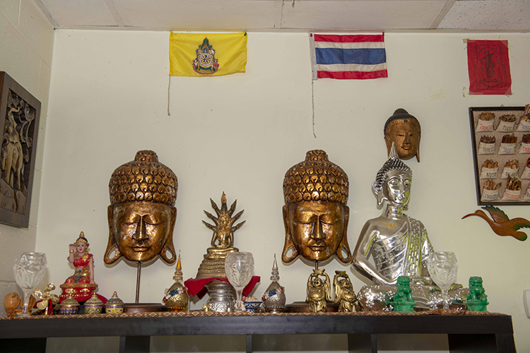 Some of the décor has been blessed by a Buddhist monk.