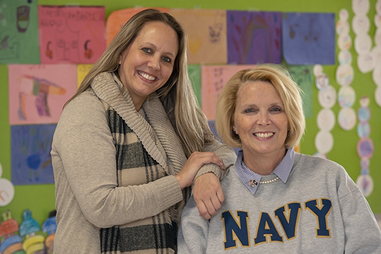 Bellevue Independent Schools' Tara Wittrock and Deneen Zimmerman.