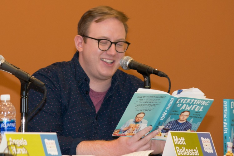 Comedian Matt Bellassai reads at last year's event.