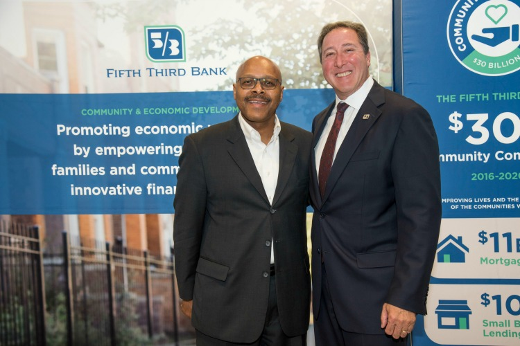 Maurice Jones, president and CEO of LISC National and Greg Carmichael, president and CEO, Fift Third Bancorp.