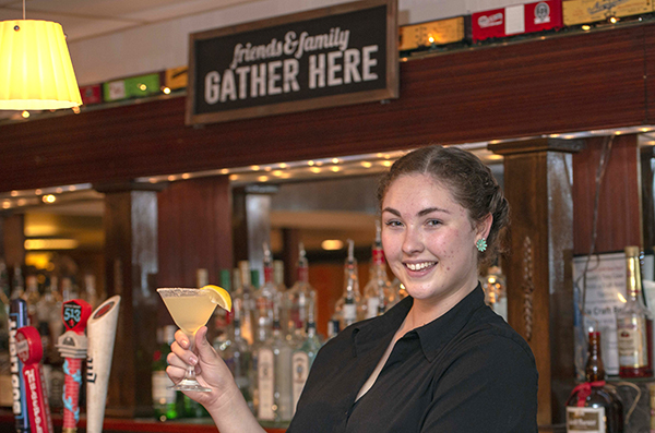 Bartender Kati Kostyk with the Lemon Drop Martini