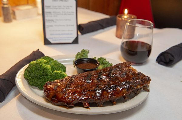 Baby Back Ribs with Maury's signature citrus bbq sauce
