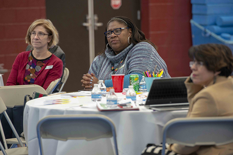 More than 50 service providers visited Brighton's Center for Employment Training.