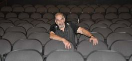 Tim Swallow takes a seat at the Garfield Theatre.