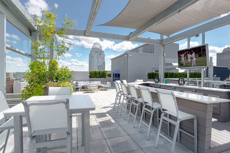 Seven at Broadway's rooftop terrace has gorgeous city views.