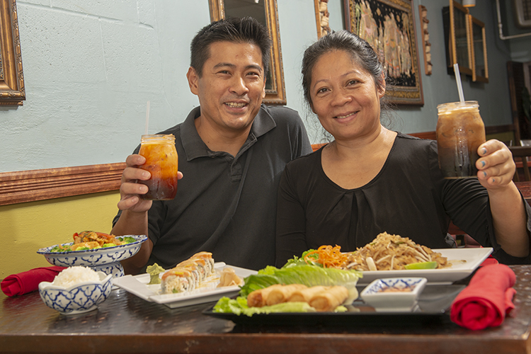 Owners Tim Tang and Ruthai Sanphasiri have been in business for 17 years.