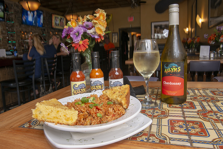 The Jambalaya is a popular dish at Allyn's.