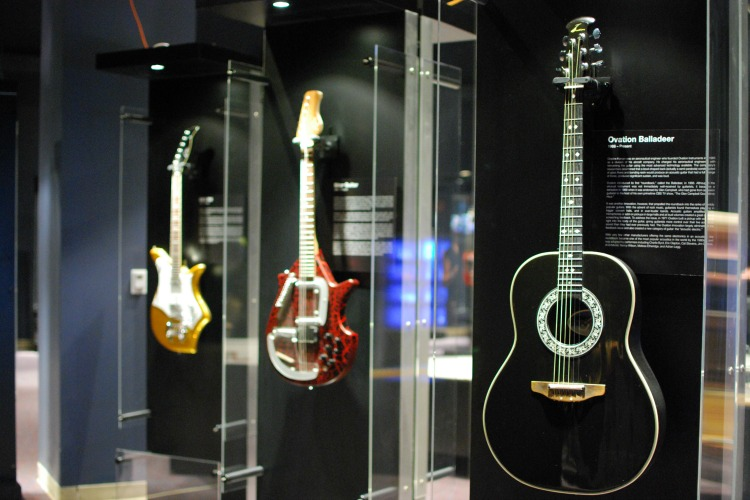 Nearly 100 artifacts at the National Guitar Museum's traveling exhibit.