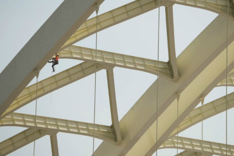 A rope inspection of the bridge