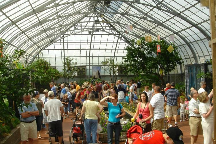 Visitors at Krohn Conservatory.