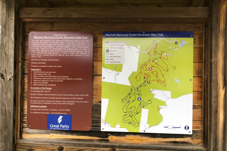 Clear signage helps bikers, hikers and walkers navigate the trails.