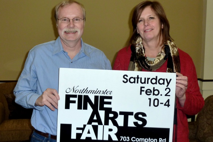 Rich Schafermeyer and Susan Ahlrichs, co-chairs of the Northminster Fine Arts Fair.