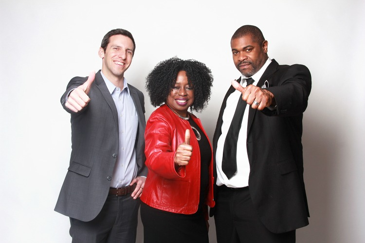 The Block founders and hosts, left to right, P.G.Sittenfield, Jeri Tolliver, and Nathan Ivey