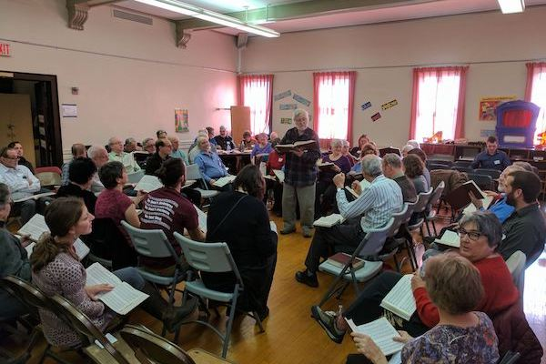 Sacred Harp singers gather for a meeting in early January. They will hold a convention in Cincinnati in March.