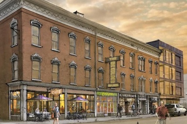 Rendering of what the Bradford Building could look like after an extensive renovation.