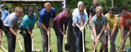 Groundbreaking ceremony for the Mt. Airy Forest mountain bike trail