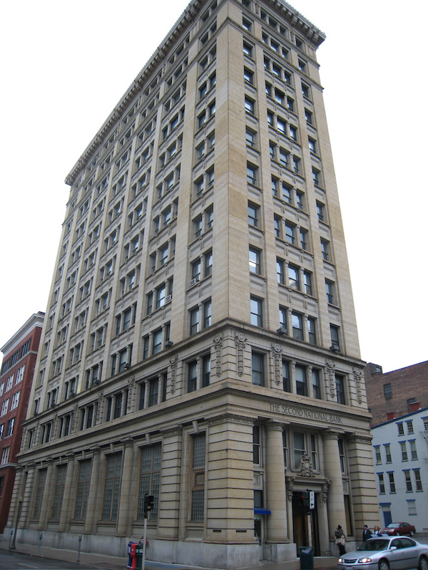 The Second National Bank Building downtown will be redeveloped into 60 apartments.