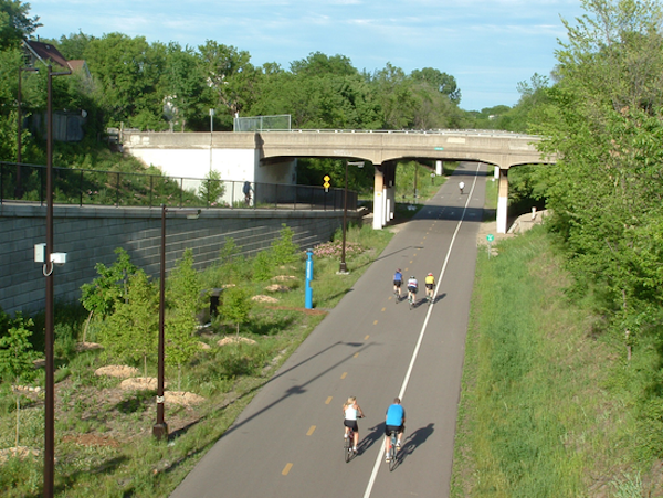 A rendering of what the Wasson Way will look like.