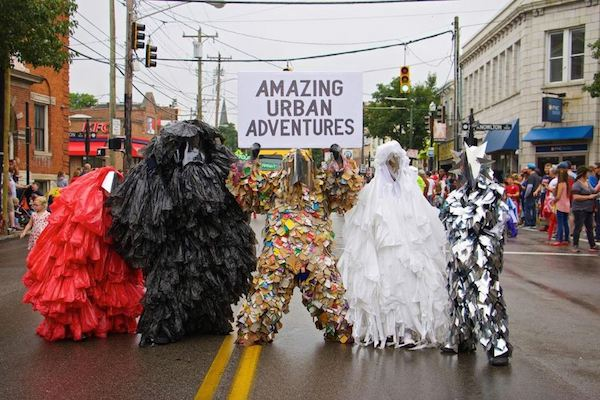 The soft launch for Amazing Urban Adventures was at this year's Northside 4th of July parade.