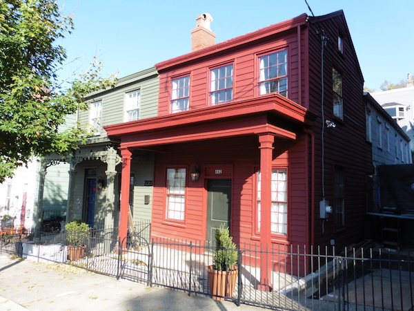 Cincinnati's oldest residence at 440-442 Liberty Hill received a Rehabilitation Award.