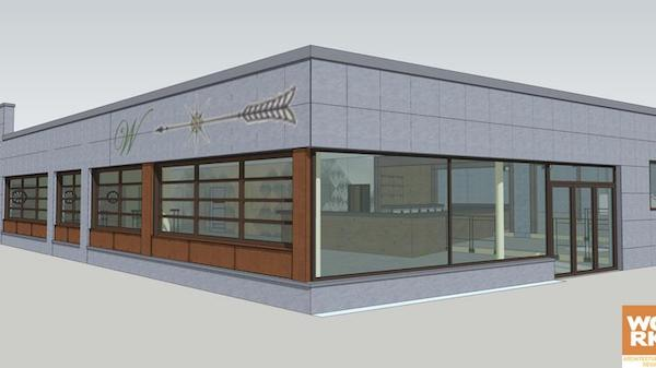 A rendering of what West Side Brewing will look like.