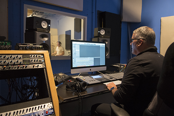 John Curley of the Afghan Whigs is a volunteer sound engineer at Music Resource Center.