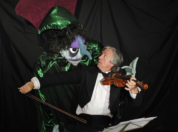 Madcap Artistic/Executive Director John Lewandowski and puppet friend