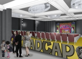 Rendering of the theater in Madcap Puppets' new building