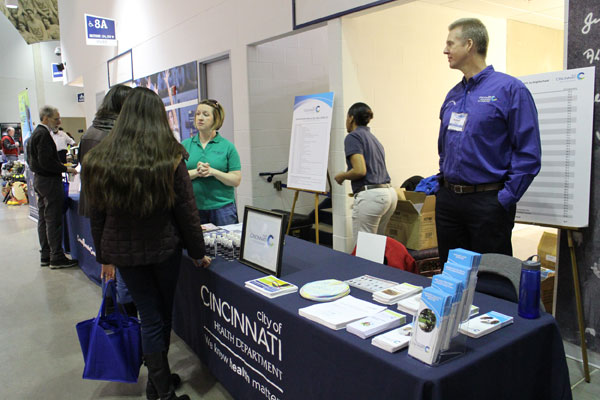The Health Department was one of many city functions represented at the Neighborhood Summit