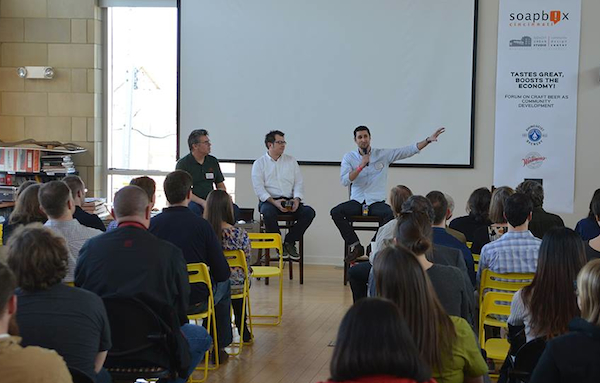Soapbox's March 11 panel discussion on craft beer was well-attended