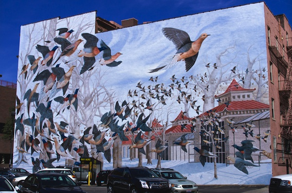 "John Ruthven's ""Martha, the Last Passenger Pigeon"" is included on ArtWorks' Mural Tours program"