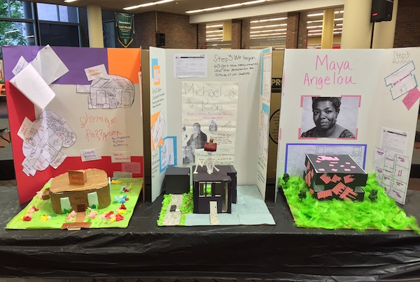 Student work is on display all week at the Main Public Library downtown