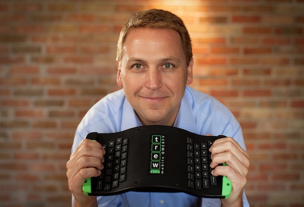 Mark Parker and his TREWGrip mobile keyboard