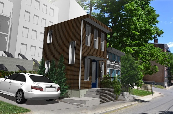 Rendering of small homes at 142-144 Peete St.