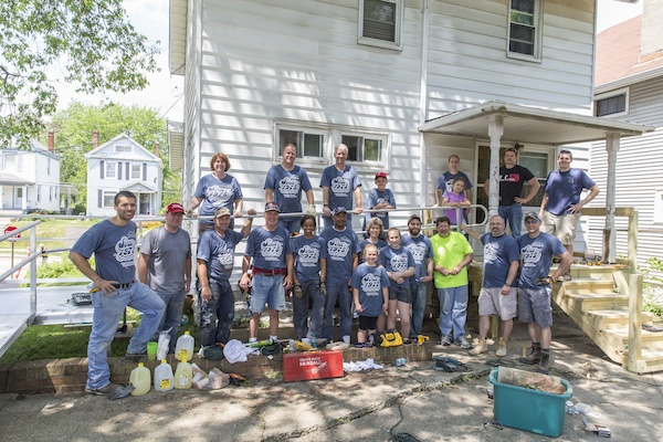 PWC's recent Repair Affair brought together over 300 volunteers to fix 40 area homes