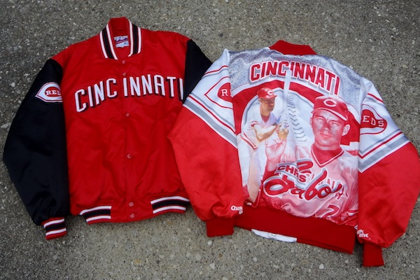 Reds jackets from the '80s and '90s will be among the sports apparel available at the popup shop