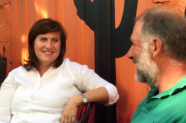 Michelle Dillingham with Cincinnati Community Shares founding member Jim Lowenburg