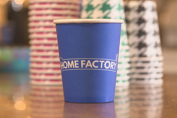 "Clovernook's biodegradable and compostable cup production was featured on TV's ""Home Factory"""