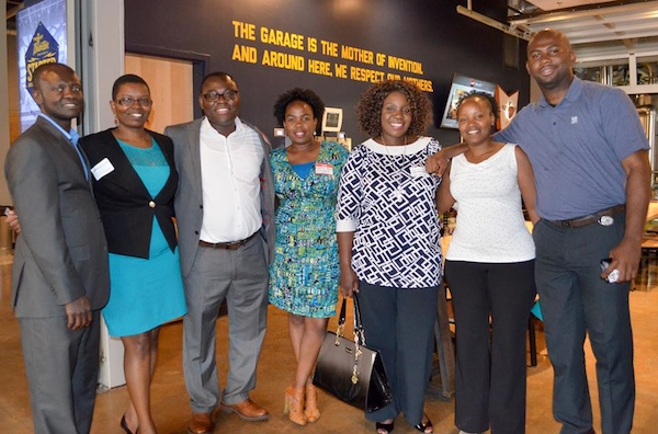 Leadership of the African Professionals Network, including Clara Matonhodze (third from right)