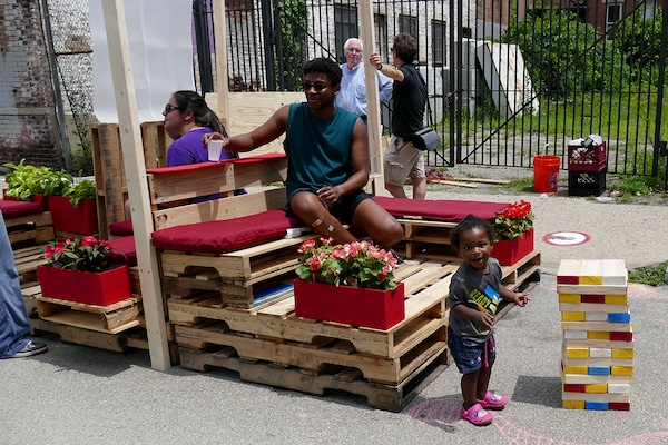 Parklets like this one on Pleasant Street in OTR will be coming to Covington in 2016