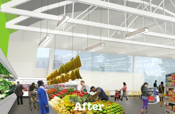Rendering of the Apple Street Market's interior