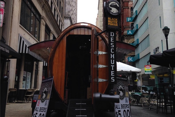 Deschutes Brewery's 3-ton traveling bar makes its first visit to Cincinnati this week