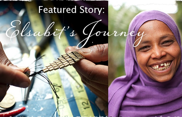 The soHza website features stories behind the jewelry makers