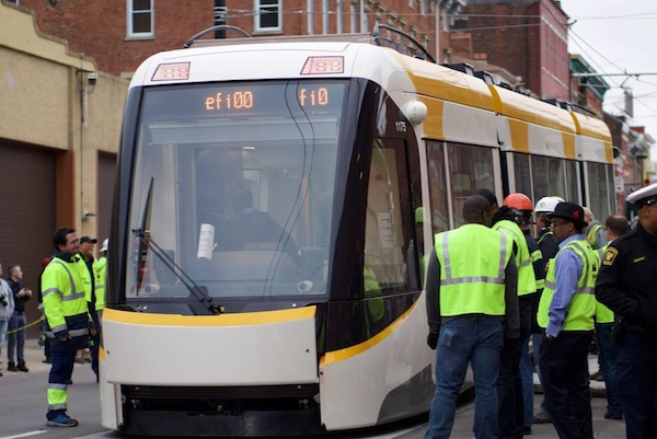 Cincinnati's first new streetcar was delivered Oct. 30