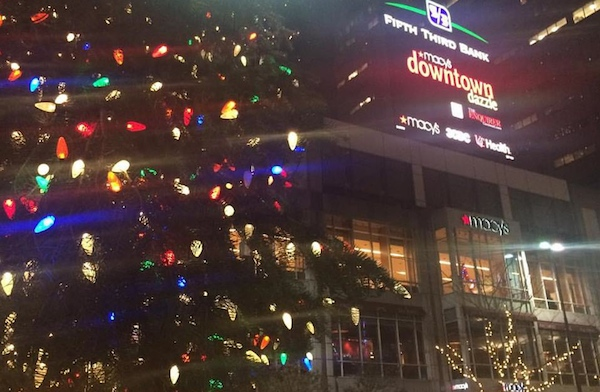 Fountain Square is a hub of holiday cheer, including Downtown Dazzle, Cincideutsch Christkindlmarkt and ice skating